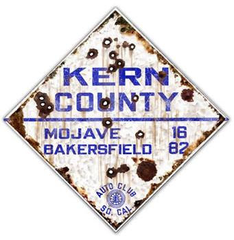 Kern County - Auto Club So. Cal Road Metal Sign