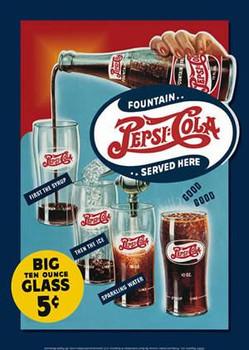 Pepsi - Big Ten Ounce Glass