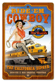 California Zephyr Rustic Metal Sign