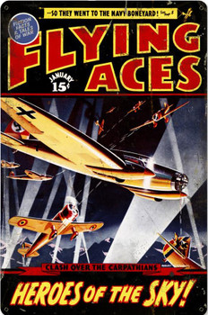 Flying Aces Metal Sign