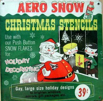 Aero Snow-Christmas Stencils Metal Sign