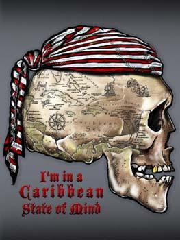 Caribbean State of Mind Metal Sign
