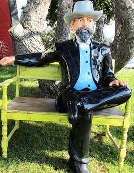 Jack Daniel Original Fiberglass Sitting Figure