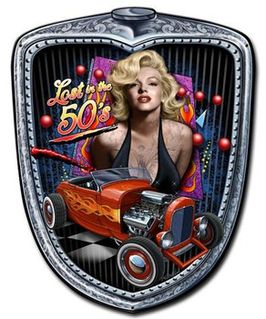 Marilyn Grill Plasma Pin-Up Metal Sign