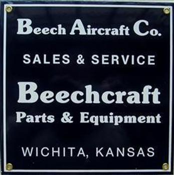 Beech Aircraft Co. Porcelain Sign