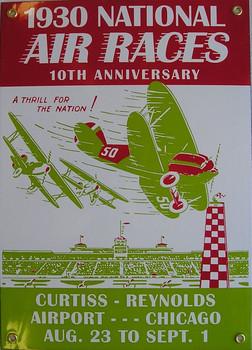 1930 National Air Races Porcelain Sign