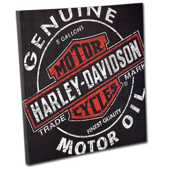 H-D® Oil Can Canvas Print