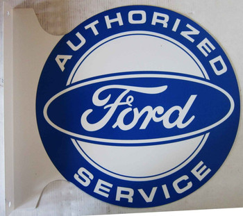 """Authorized FORD Service  Flange Sign 12"""""""