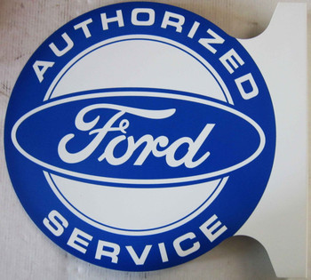 Authorized FORD Service  Flange Sign 12""