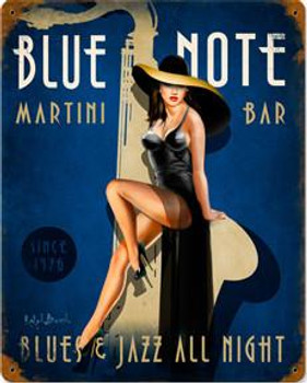 Blue Note Matini Bar Metal Sign