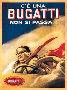 Bugatti Metal Sign