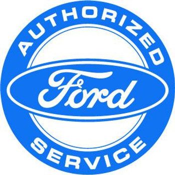 "Ford Authorized Service 12"" Round Metal Disk"