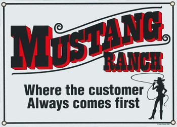 Mustang Ranch Porcelain Sign
