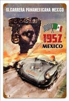 IV Carrera Pananericana Mexico Metal Sign