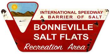 "Bonneville Salt Flats Metal Sign (27"" by 13"")"