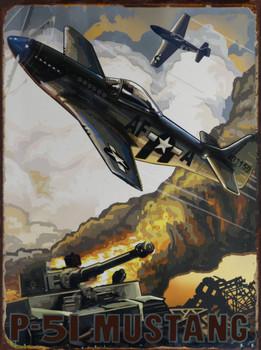 P-51 Mustang Metal Sign