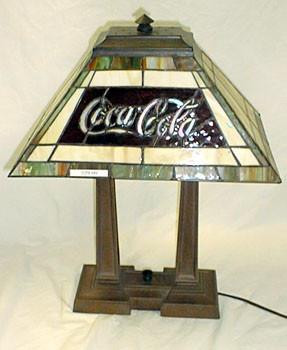 Coca Cola Rectangular Shade Table Lamp