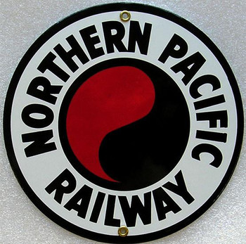Northern Pacific Railroad Porcelain Sign