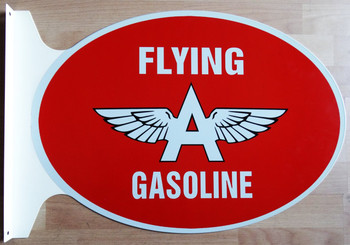 """Flying A Service Flange Sign 27"""" wide by 18"""" tall"""