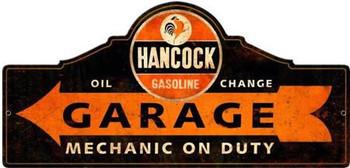 Hancock Gas Pay Station Plasma Cut Metal Sign