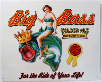 Big Bass Golden Ale Metal Sign