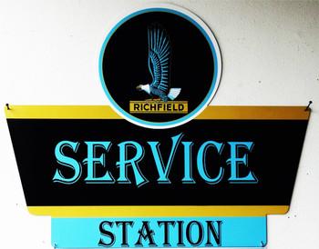 Richfield Service Station Plasma Cut Metal Sign