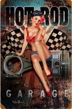 Hot Rod Garage Metal Sign 1