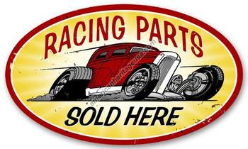 Racing Parts Oval Metal Sign