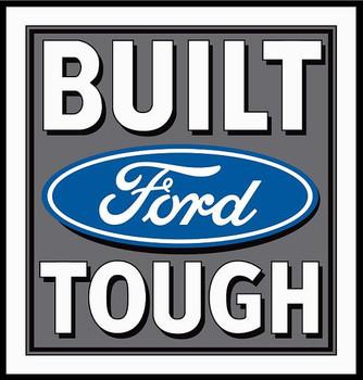 Ford Built Tough (medium) Metal Sign