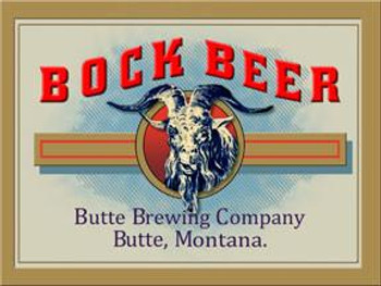 Bock Beer-Butte, Montana