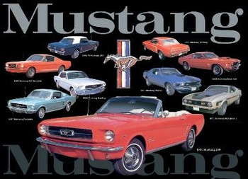 Mustang Collage 1964-1971 Metal Sign