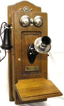 Chicago Telephone Oak Wall Telephone