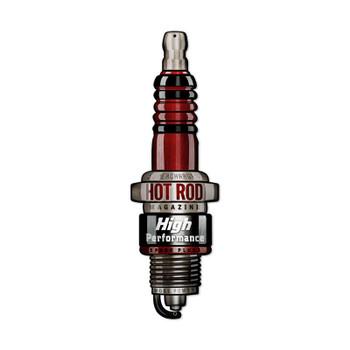 HOT ROD Spark Plug Plasma Cut Metal Sign