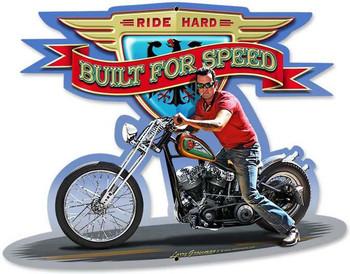 Built For Speed Plasma Cut Metal Sign