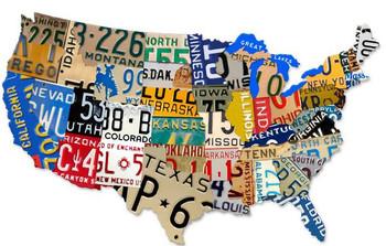 License Plate USA (jumbo)