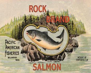 Rock Brand Salmon Metal Sign