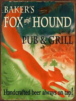 Baker's Fox & Hound Metal Sign