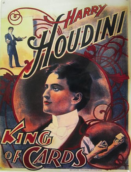 Houdini-King of Cards Metal Signs