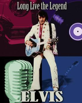 Long Live the Legend-Elvis Metal Sign