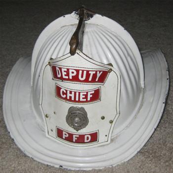 Deputy Chief PFD Fire Helmet (metal) 1