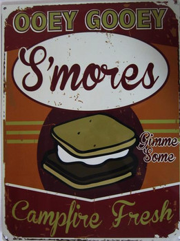 S'Mores-Campfire Fresh Metal Sign