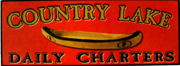 Country Lake Daily Charters Wood Sign