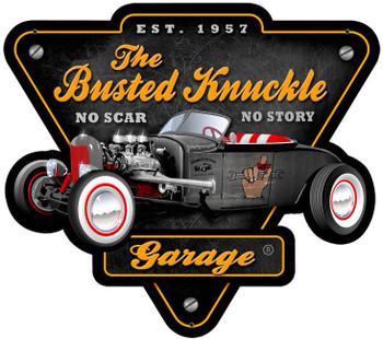 Busted Knuckle-Rat Rod-Plasma Cut Metal Sign