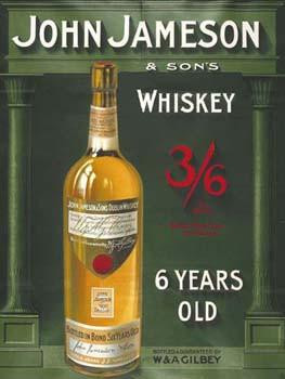John Jameson Whiskey Metal Sign