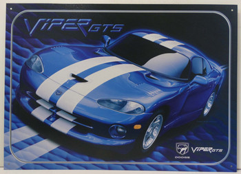 Dodge Viper GTS Metal Sign