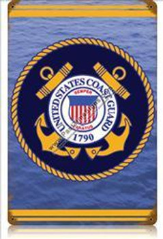 Coast Guard (emblem) Vintage Metal Sign