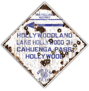 Mulholland Highway - Auto Club So. Cal Road Sign