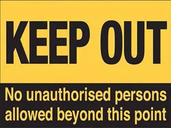 Keep Out Metal Sign