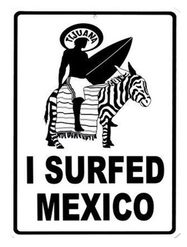 I Surfed Mexico Aluminum Sign