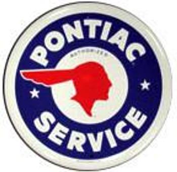 "Pontiac Service 12"" Round sign"